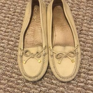 Sperry top sider tan leather flats